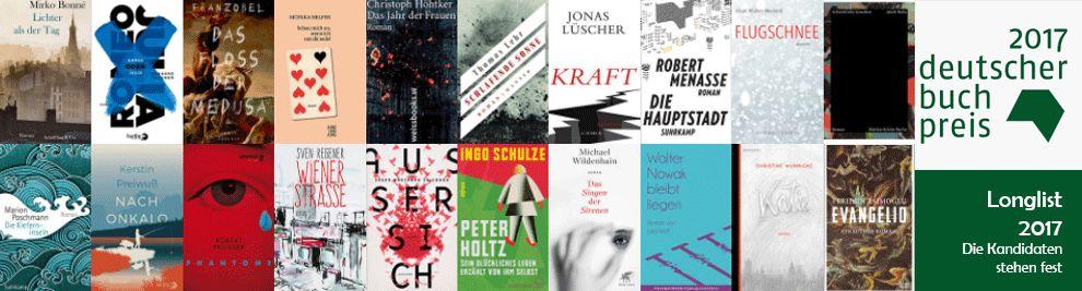 Longlist Deutscher Buchpreis